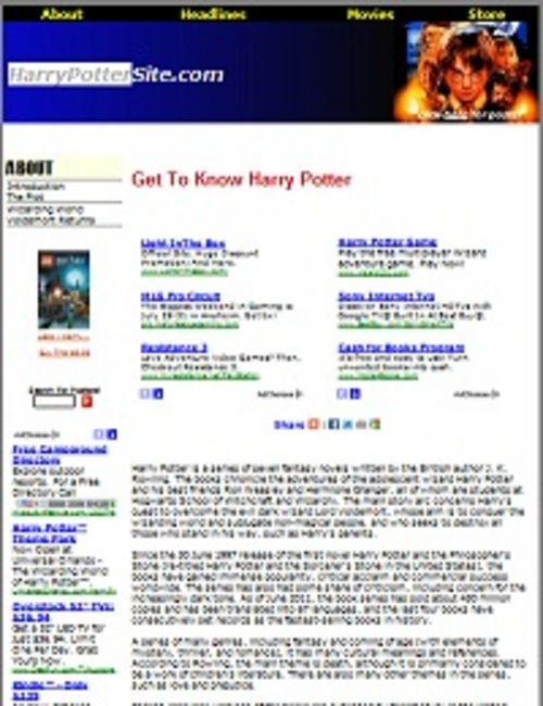 Product picture Harry Potter Website Theme-Website Theme