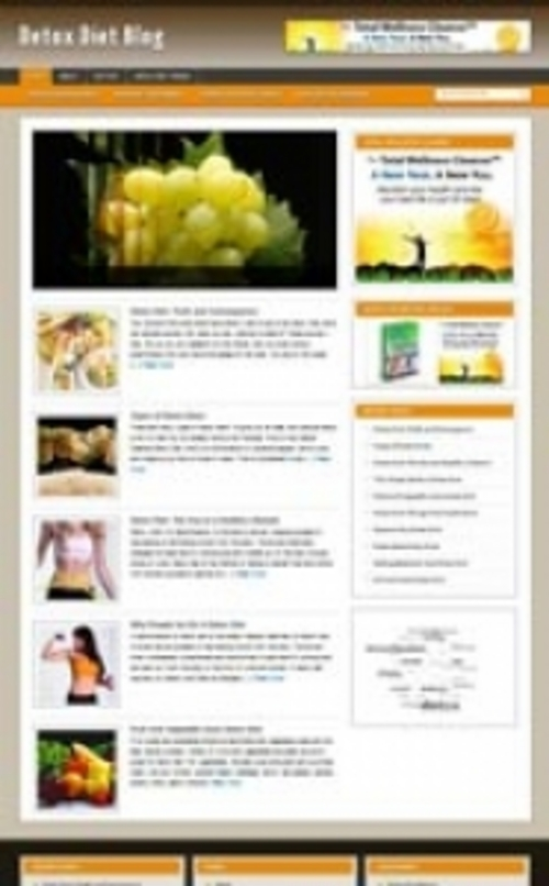 Product picture Natural Detox Website Theme-Unforgettable Website Themes