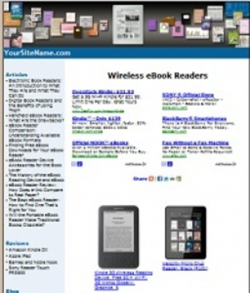 Product picture ereader Website Theme-unforgettable Website Theme